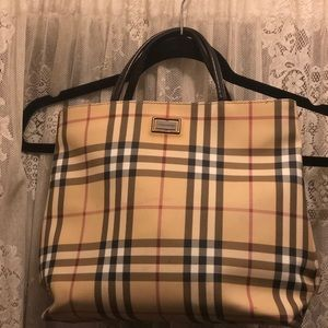 BURBERRY-AUTHENTIC SML TOTE BAG